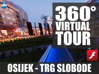 Virtualna šetnja u 360° - OSIJEK, TRG SLOBODE
