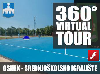Virtualna šetnja u 360° - OSIJEK, SREDNJOŠKOLSKO IGRALIŠTE