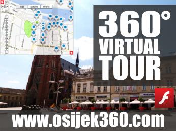 Virtualna šetnja u 360° - GRAD OSIJEK