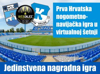 Prva Hrvatska nogometno-navijačka nagradna igra u virtualnoj šetnji