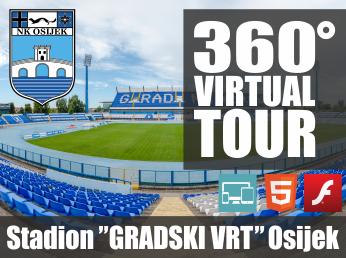 Virtualna šetnja u 360° - STADION GRADSKI VRT (Osijek)