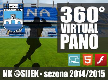 Virtualne panorame u 360° - Igrači NK OSIJEK (sezona 201/2015)