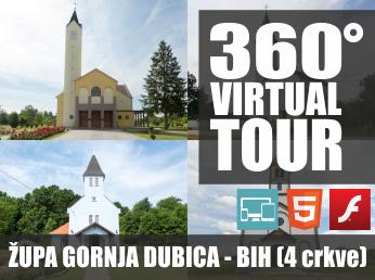 Virtualna šetnja u 360° - ŽUPA GORNJA DUBICA (4 crkve)